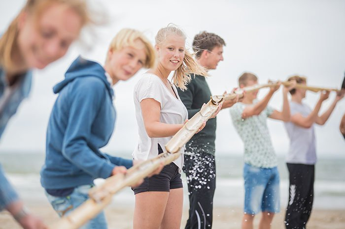Expeditie Robinson op het strand
