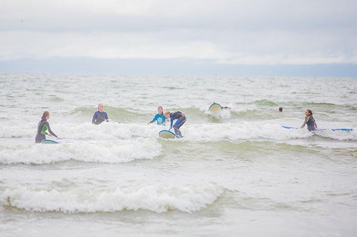 Golfsurfen in de Noordzee